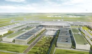 Neuer Hauptstadt-Airport Berlin Brandenburg International (BBI) im Bau