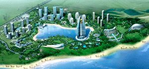 The Wyndham Grand Boao Resort and Spa, shown in a rendering here, is scheduled to open in 2011