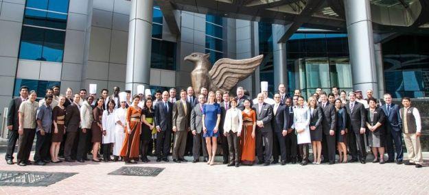 Marriott executive team, JW Marriott brand team, Marriott regional team and some JWMMD hotel team
