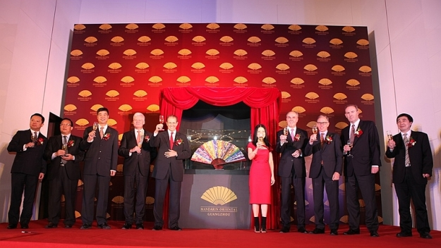 Mandarin Oriental Guangzhou celebrates official debut - Iconic fashion designer and Mandarin Oriental 'fan' Vivienne Tam unveils the hotel's unique fan