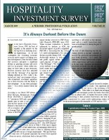 Hospitality Investment Survey - 2013 Edition