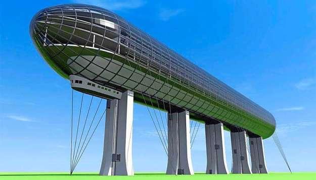 "Zeppelin hotel project in Switzerland - Legendary airship LZ 127 (""Graf Zeppelin"")"