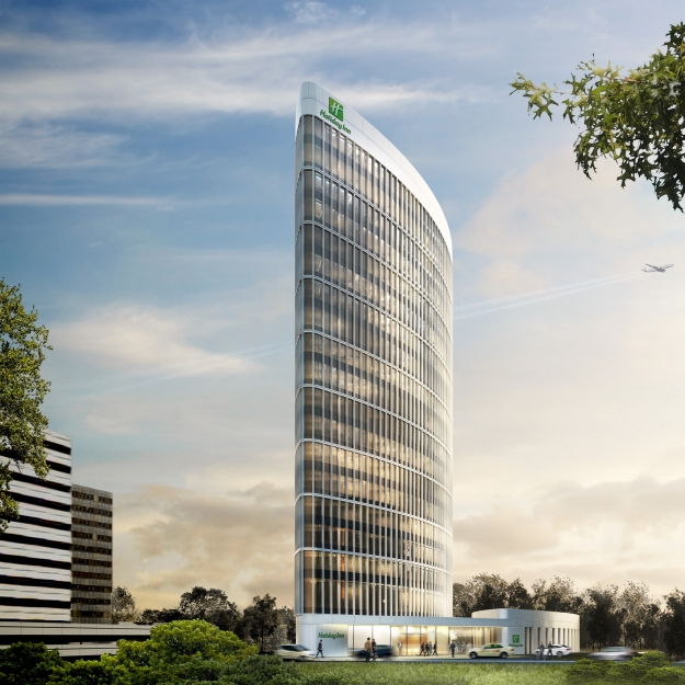 "Second Holiday Inn in Hamburg: the 18-storey new building in the ""City Nord"" will feature 297 rooms"