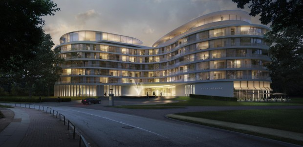 "High-end luxury hotel ""The Fontenay"" in Hamburg's Alster Lake: Opening should be in the middle 2016"