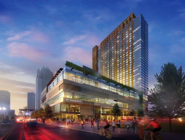 JW Marriott Austin - Facade Rendering