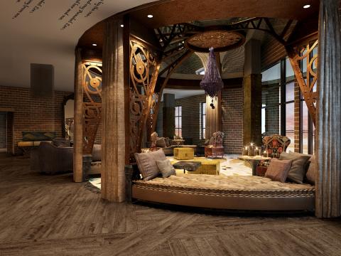 Starwood Hotels & Resorts - Tribute Portfolio - Savannah - Lobby Rotunda - Rendering