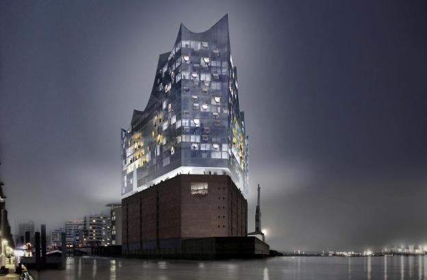 New landmark for Hamburg, Germany: Classical event centre Elbphilharmonie will open in 2017 with 244-rooms luxury Westin hotel