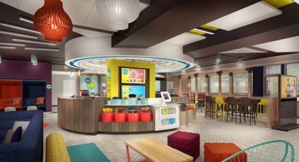Living lobby at new Tru by Hilton hotel concept (Photo/Graphic: Hilton Worldwide)